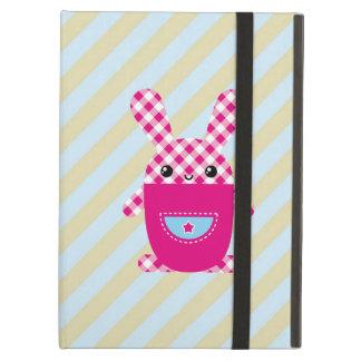 Kawaii checkered rabbit iPad air cover
