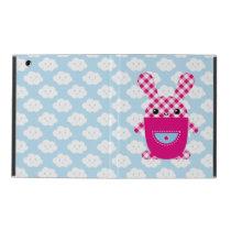 Kawaii checkered rabbit iPad cover