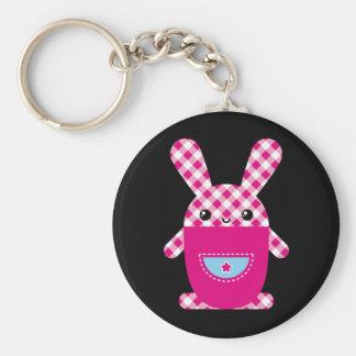 Kawaii checkered rabbit key chains