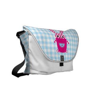Kawaii checkered rabbit messenger bag
