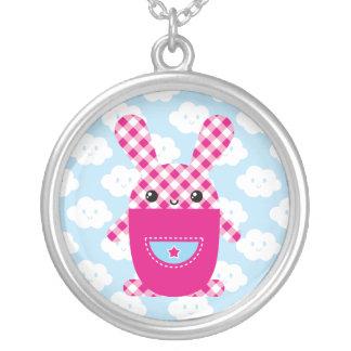 Kawaii checkered rabbit pendant