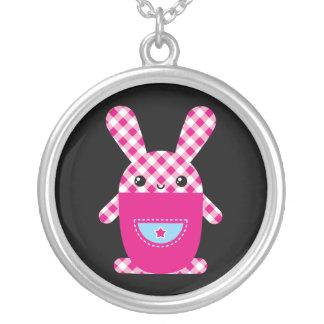 Kawaii checkered rabbit jewelry