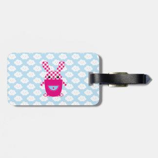 Kawaii checkered rabbit tags for bags