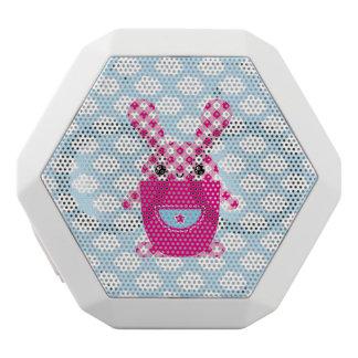 Kawaii checkered rabbit white bluetooth speaker