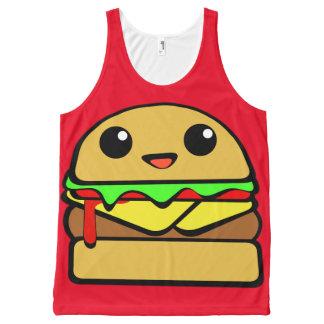Kawaii Cheeseburger All-Over-Print Tank Top