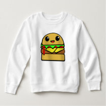Kawaii Cheeseburger Character Sweatshirt