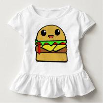 Kawaii Cheeseburger Character Toddler T-shirt