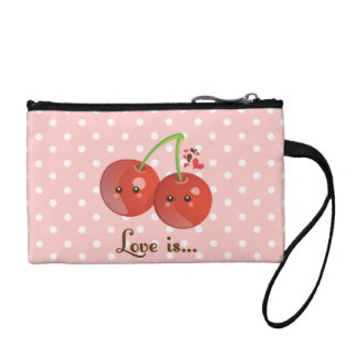 Kawaii Cherries Change Purse