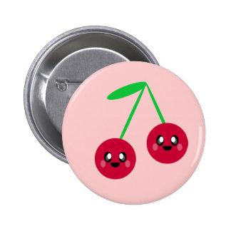 kawaii cherries fruit happy friends pins