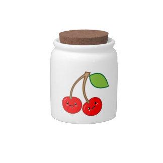 Kawaii Cherry Candy Jars