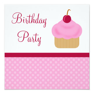 Kawaii Birthday Cake Invitations Announcements Zazzle
