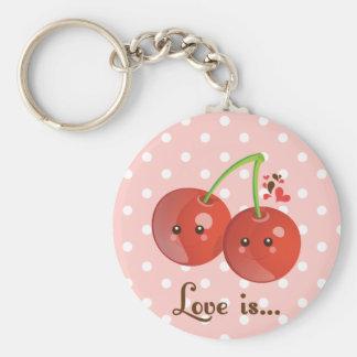 Kawaii Cherry Keychain