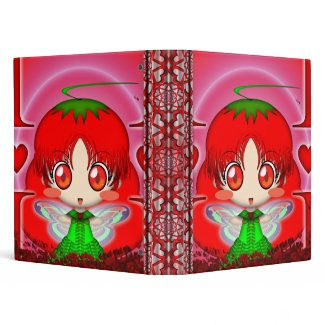 Kawaii Chibi Tomato Fairy binder
