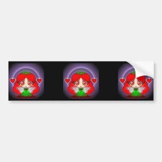 Kawaii Chibi Tomato Fairy Transparent Bumper Sticker