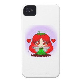 Kawaii Chibi Tomato Fairy Transparent iPhone 4 Case