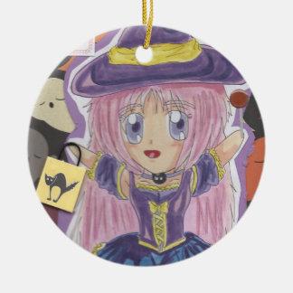 Kawaii Chibi Witch Mio Halloween Ornament
