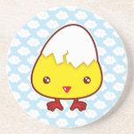 Kawaii chick beverage coasters