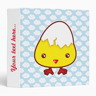 Kawaii chick vinyl binder