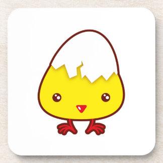 Kawaii chick coasters
