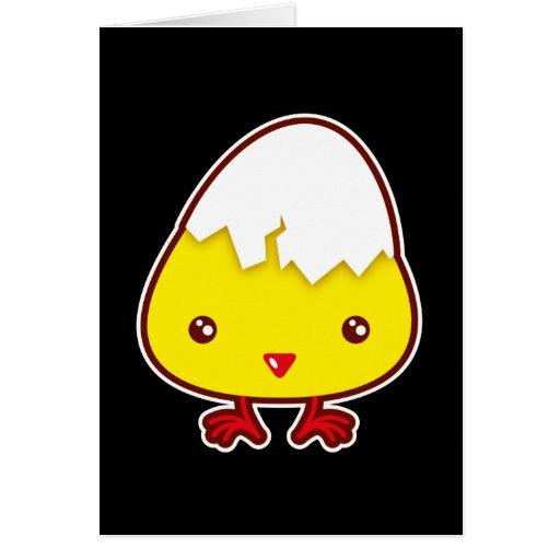 Kawaii chick greeting card