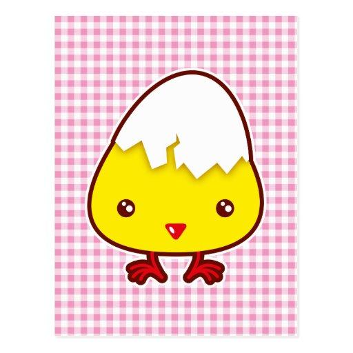 Kawaii chick postcards