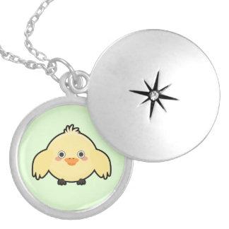 Kawaii Chick Round Locket Necklace