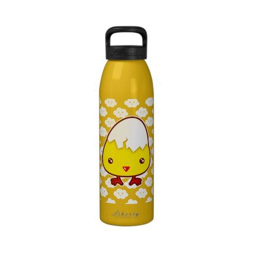 Kawaii chick water bottle