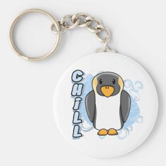 Kawaii Chill Penguin Keychain
