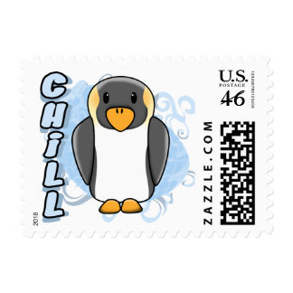 Kawaii Chill Penguin Postage Stamps Stamp