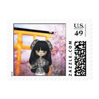 Kawaii China Doll Beautiful Orient Postage