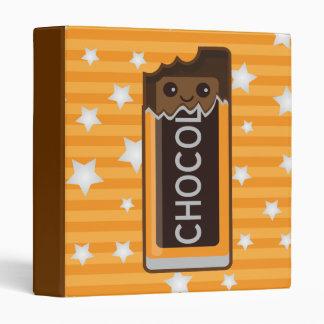 Kawaii Chocolate 3 Ring Binders