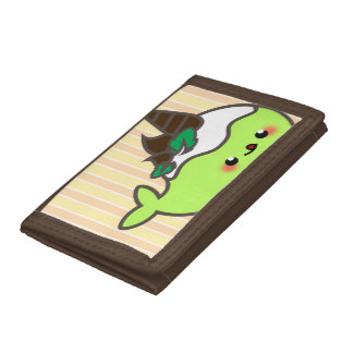 Kawaii Chocolate Chip Mint Narwhal Trifold Wallet