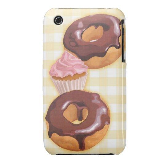 Kawaii chocolate donut Case-Mate iPhone 3 case