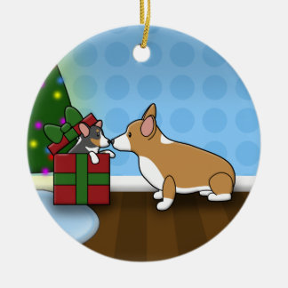 Kawaii Christmas Corgi Puppy Gift Ornament