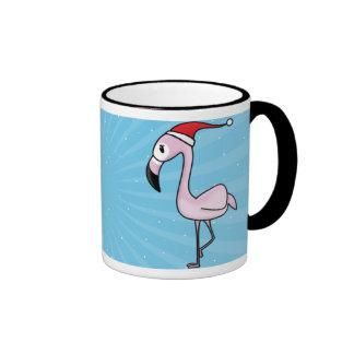 Kawaii Christmas Flamingo Mug