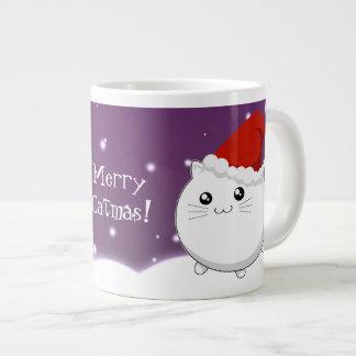 Kawaii christmas kitty cat giant coffee mug