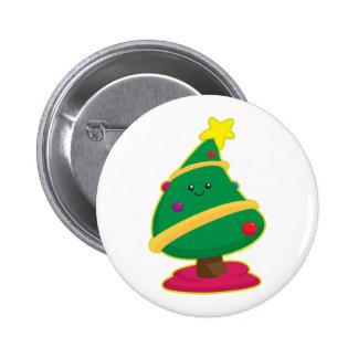 Kawaii Christmas Tree 2 Inch Round Button