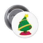 Kawaii Christmas Tree Pinback Buttons