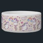 "Kawaii chubby flying unicorns rainbow pattern bowl<br><div class=""desc"">Kawaii chubby flying unicorns rainbow cloud pattern pet food bowl</div>"