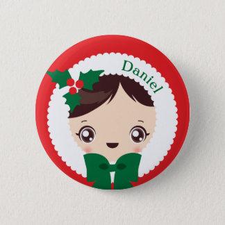 Kawaii Clara - Christmas (Daniel) Pinback Button