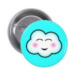 Kawaii Cloud 2 Inch Round Button