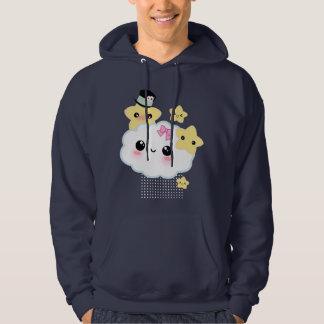 Kawaii cloud and cute stars hoodie