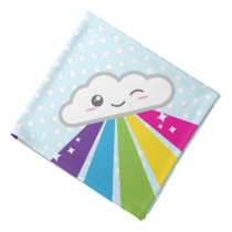 Kawaii Cloud and Rainbow Bandana