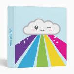 Kawaii Cloud and Rainbow Binder