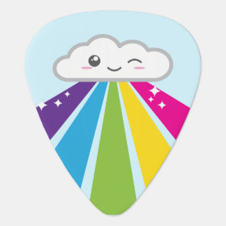 Kawaii Cloud and Rainbow Guitar Picks