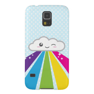 Kawaii Cloud and Rainbow Samsung Case