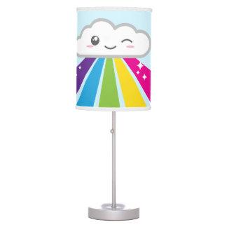 Kawaii Cloud and Rainbow Table Lamps