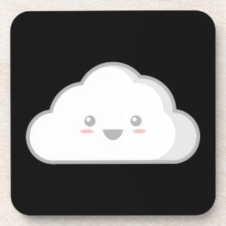Kawaii Cloud Beverage Coaster
