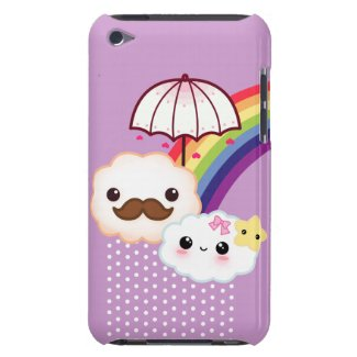 Kawaii cloud couple with rainbow and umbrella casematecase