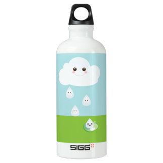 Kawaii Cloud with Rain Drops Water Bottle